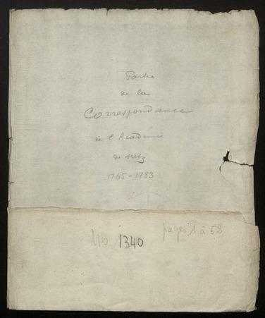 Archives de l'Académie nationale de Metz. Volume 4: Correspondance (parti…