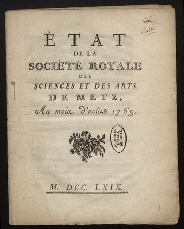 Archives de l'Académie nationale de Metz. Volume 6: Membres de l'Académie…
