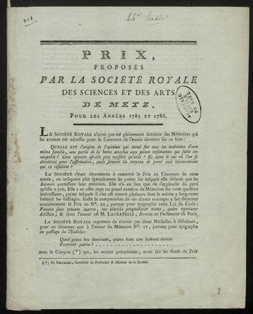 Archives de l'Académie nationale de Metz. Volume 14
