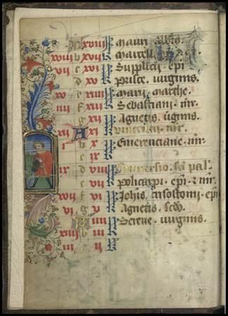 Enluminure représentant le signe du zodiaque du Verseau