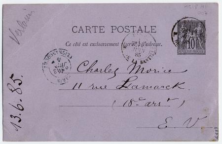 Carte postale autographe à Charles Morice