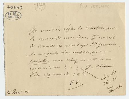 Lettre autographe signée à Guy de Passillé