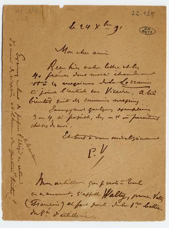 Lettre autographe signée et enveloppe