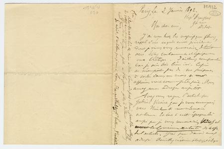 Lettre autographe avec enveloppe à Jules Rais
