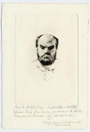 Portrait gravé de Verlaine