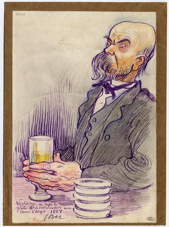 Verlaine au café du globe boulevard de l'Observatoire avec Henri d'Argis