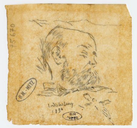 Portrait de Verlaine sur son lit de mort