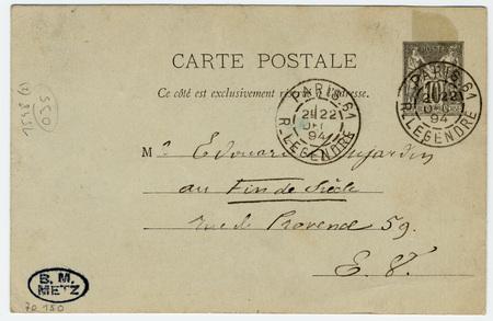 Carte postale autographe à Edouard Dujardin