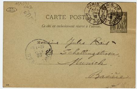 Carte postale autographe à Jules Rais