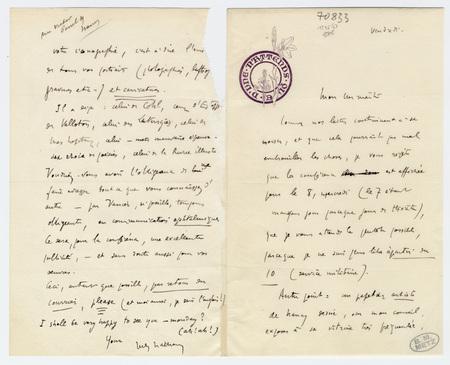 """Lettre autographe signée de Jules Rais (signée """"Jules Nathan""""), non datée"""