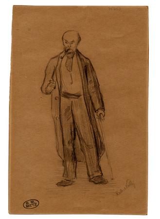 Portrait de Paul Verlaine en pied