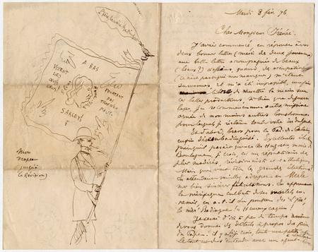 Lettre autographe signée à Irénée Decroix