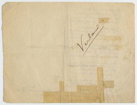 """""""Contre la jalousie"""", poème autographe signé"""