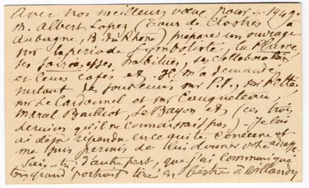 Lettre autographe signée de Cazals