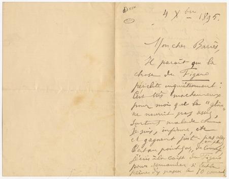 Lettre à Maurice Barrès