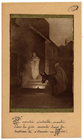 Carte de voeux d'Augusta Delporte