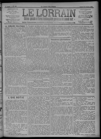 Le Lorrain écho de Metz et d'Alsace-Lorraine : journal politique, religieu…