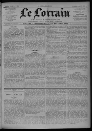 Le Lorrain écho de Metz et d'Alsace-Lorraine