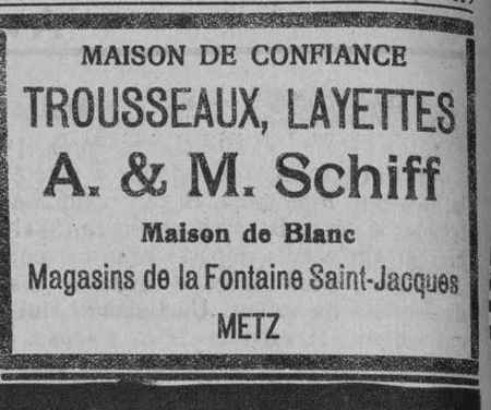 A. & M. Schiff. Trousseaux et Layettes