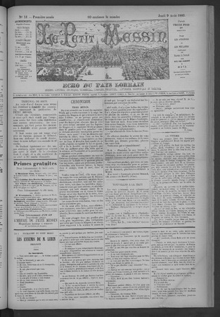 Le Petit Messin, écho du pays lorrain : journal commercial, agricole, indu…