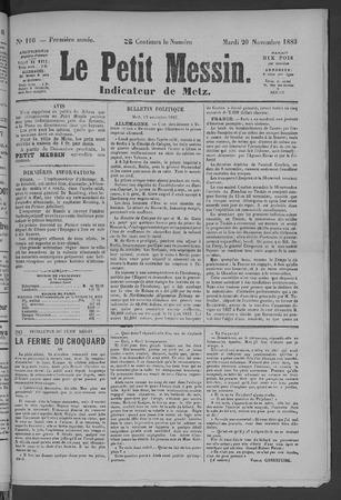 Le Petit Messin: indicateur de Metz