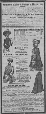 Hamburger Engros-Lager. Ouverture de la saison de Printemps et d'Éte 1902