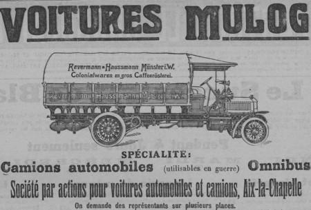 Voitures Mulog, camions automobile, omnibus