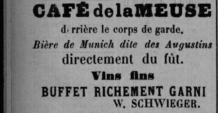 Café de la Meuse derrière le corps de garde