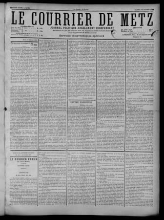 Le Courrier de Metz: Journal politique, absolument indépendant