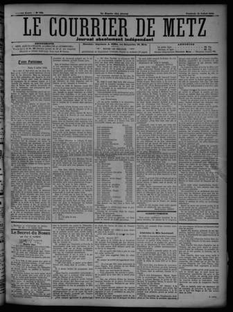 Le Courrier de Metz: Journal absolument indépendant