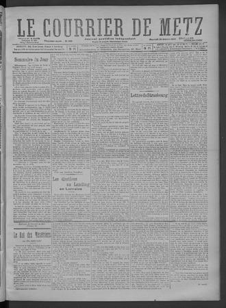 Le Courrier de Metz: Journal quotidien indépendant