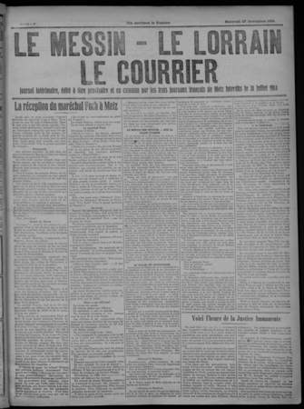 Le Messin, Le Lorrain, Le Courrier