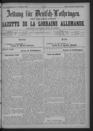 Zeitung für Deutsch-Lothringen