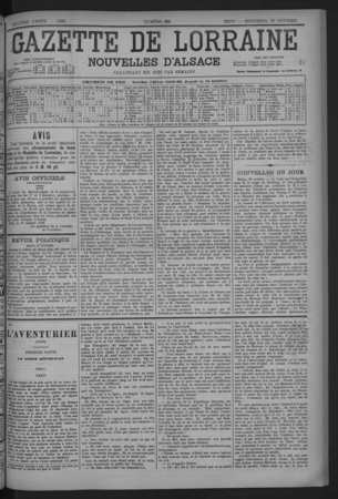 Gazette de Lorraine nouvelles d'Alsace