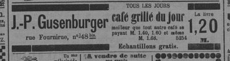 J.P. Gusenburger - tous les jours- café grillé du jour