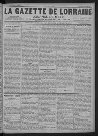 La Gazette de Lorraine journal de Metz