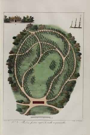Jardin fruitier sujet à la taille en quenouilles n°8