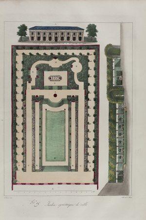 Jardin symétrique de ville n°15