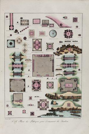 Plan des fabriques pour l'ornement des jardins n°55