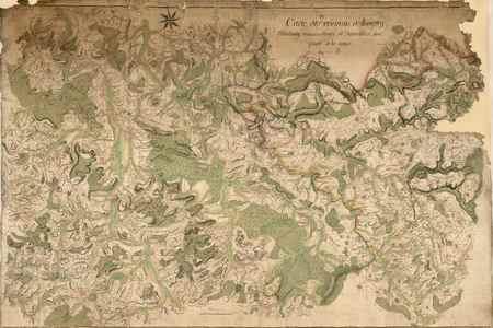Carte des environs de Longwy, Montmédy, Mouzon, Stenay et Damvillers, avec…