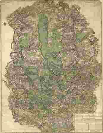 Carte du pays compris entre les villes de Sierques, Remich, Trèves, Bernca…