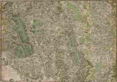 Carte très particulière du cours et des environs de la Meuse depuis St Mih…