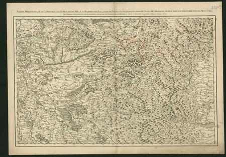 Partie Méridionale du temporel de l'Evêché de Metz et parties des Bailliag…