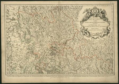 Les Estats du Duc de Lorraine ou sont les Duchez de Lorraine et de Bar.