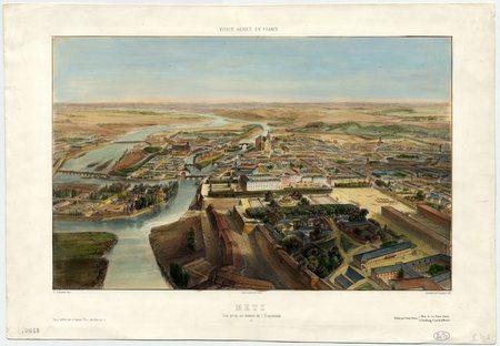 Metz : vue prise au dessus de l'Esplanade