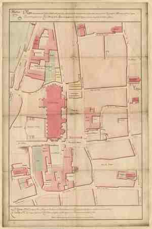 Plan des environs de l'église cathédrale, pour faire connaître l'Etat des …
