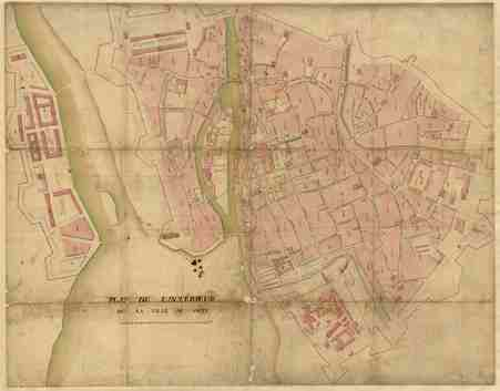 Plan de l'intérieur de la ville de Metz