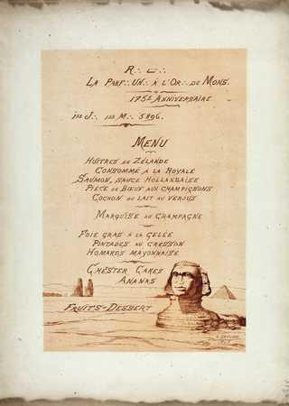 R∴ L∴ La Parf∴ Un∴ à l'Or∴ de Mons – 175e Anniversaire – 1er J∴ 1er M∴ 5896