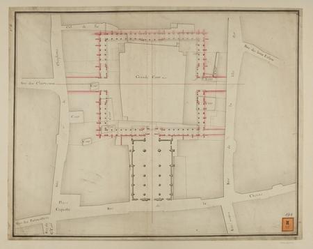 Plan de l'ancien collège rue de la Chèvre