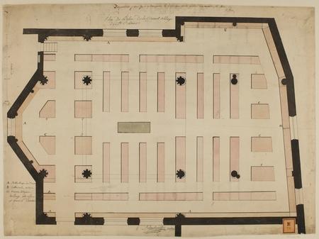 Plan de l'église de la ci-devant abbaye de Saint Louis : dispositions pour…